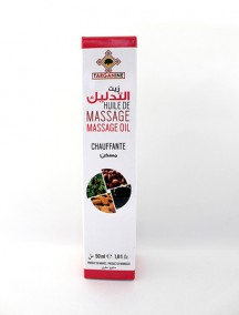 Heating massage oil
